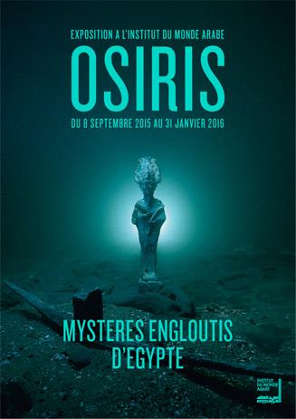 """Prolongation de l'exposition """"Osiris, Mystères engloutis d'Égypte"""" jusqu'au 6 mars 2016 Visuel1"""